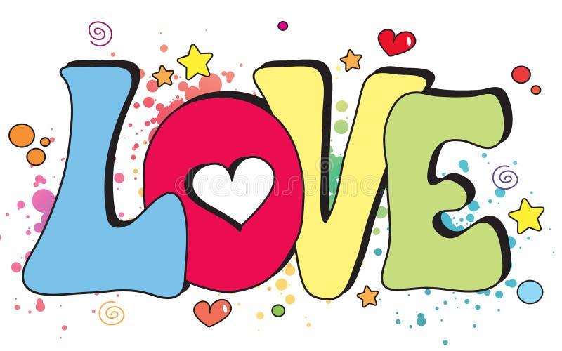 Love written concept. Illustration of love written fantasy royalty free illustration