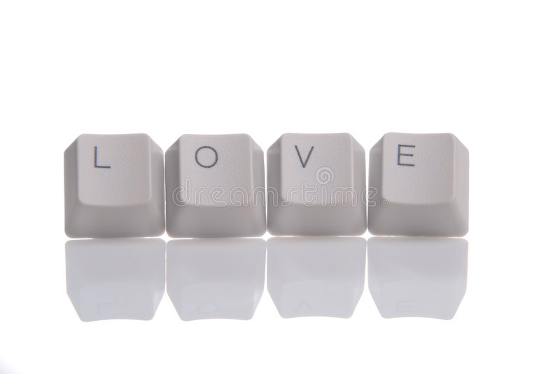 LOVE Written With Keyboard Buttons Stock Photography