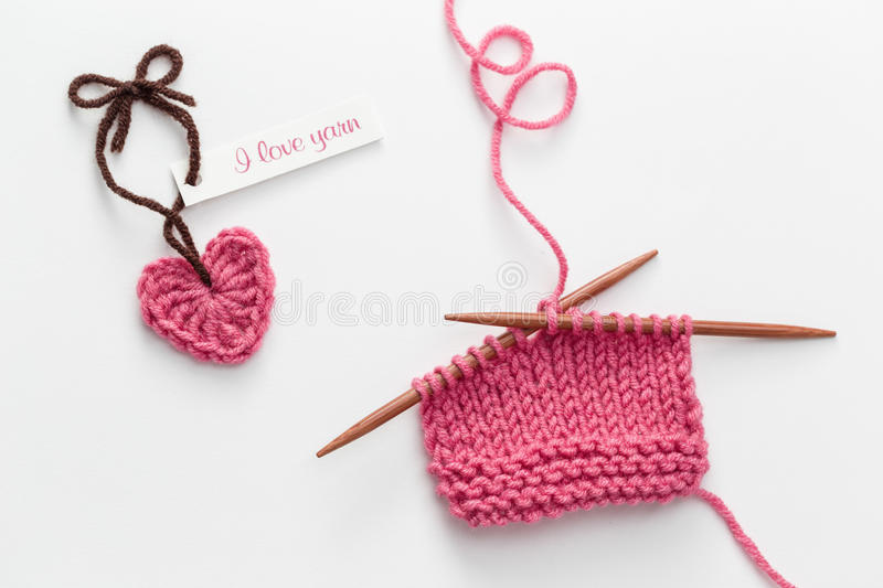 Love Yarn royalty free stock photo