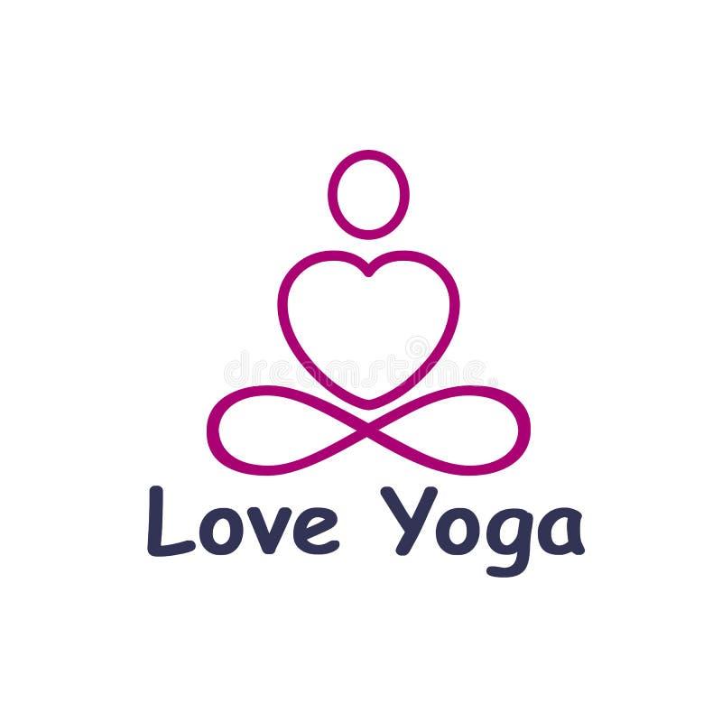 Free Love Yoga Logo Icon, Lotus Posture, Balance – Stock  Royalty Free Stock Photo - 154532285