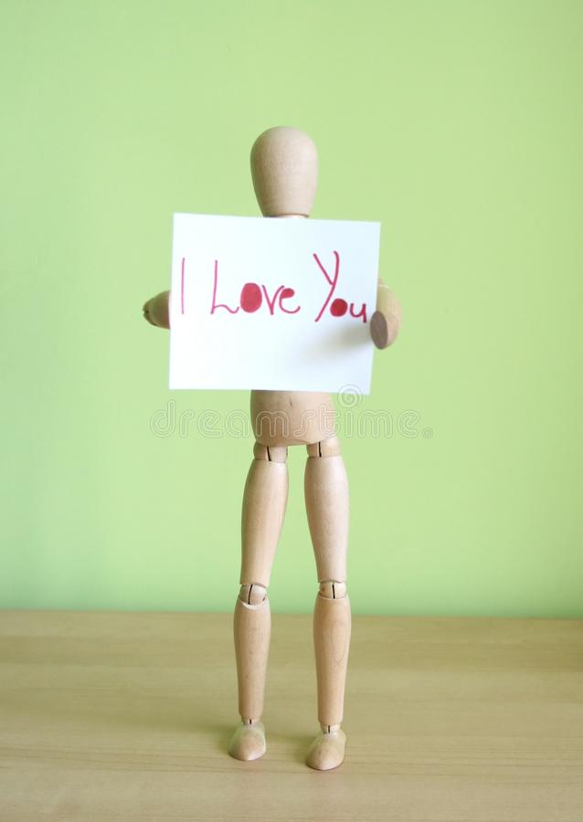 Download Love you stock image. Image of present, words, puppet - 15843985