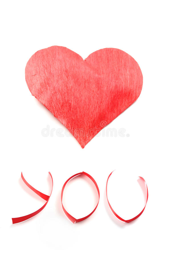 Love you. Valentine´s card royalty free stock photo