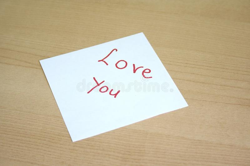 Download Love you stock image. Image of word, note, writing, people - 22605867