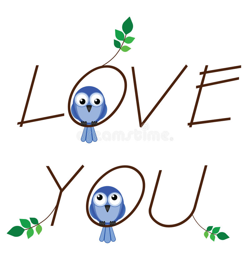 Download Love you stock vector. Image of pair, leaf, loving, font - 24767527