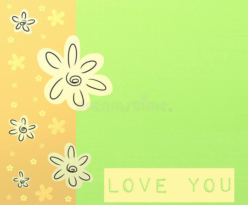 Love you card royalty free illustration