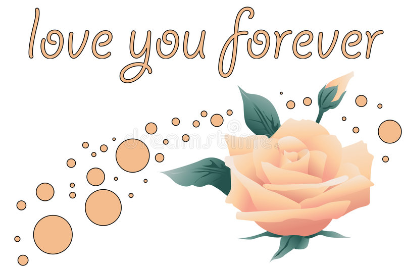 Love you forever vector illustration