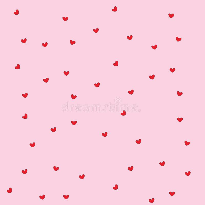 Download Love You Forever Modern Cute Abstract Background Stock Vector