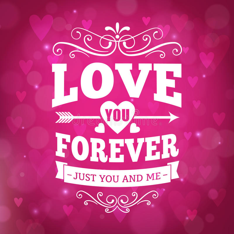 Love You Forever Typography Gr...