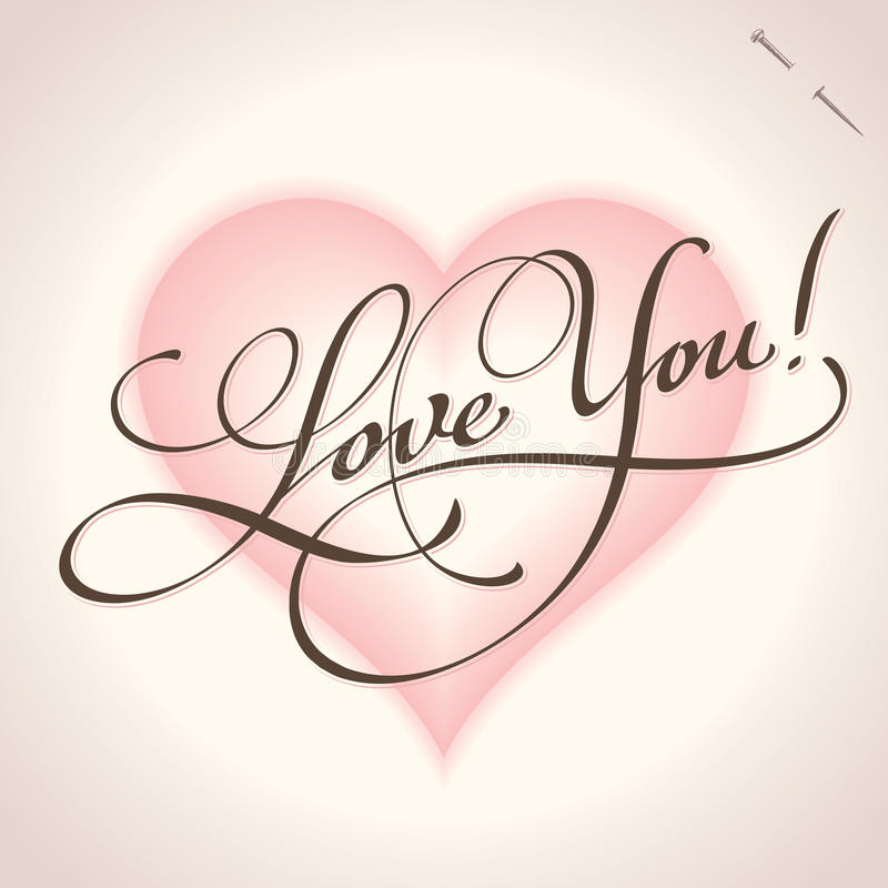 Download Love You Hand Lettering (vector) Stock Vector - Image: 22815424