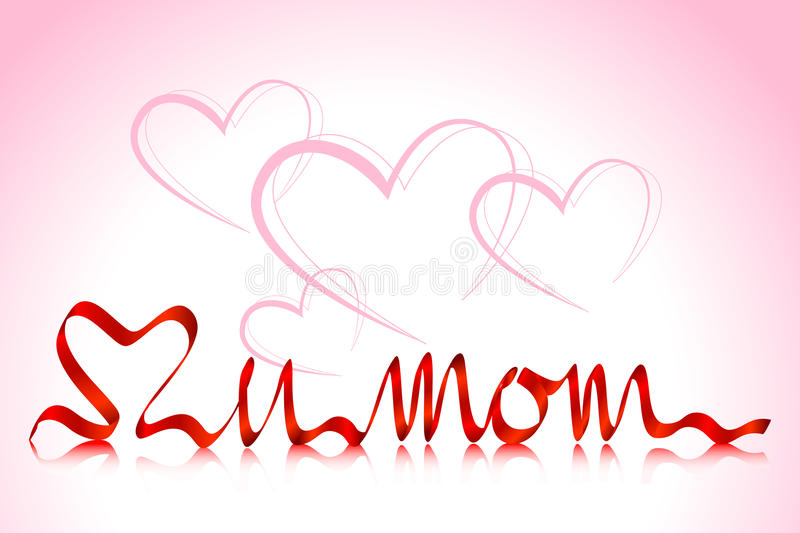 Love you Mom vector illustration