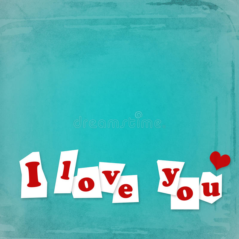 Download Love you paper note stock illustration. Image of piece - 23303294