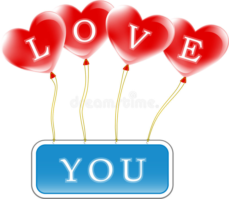 Love you sign royalty free stock photo