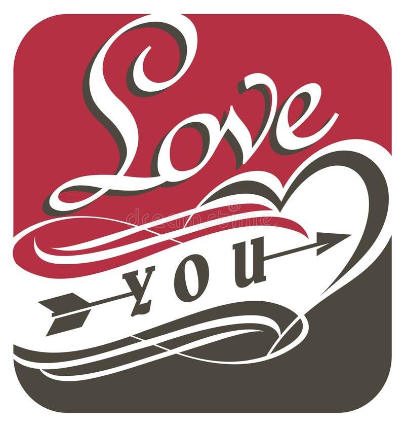 Download Love You, Unique Typography Design Stock Vector - Illustration: 36644458