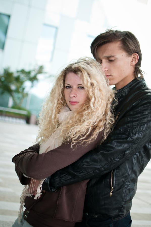 Love - young couple together royalty free stock photo