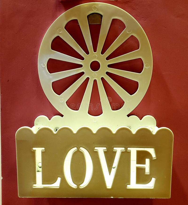 Love at your door royalty free stock image