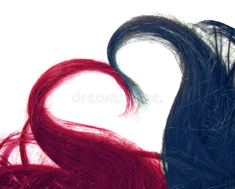 Love your hair. Locks of hair forming a heart