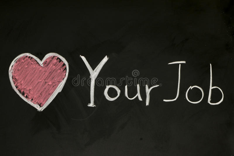 Love your job royalty free stock images