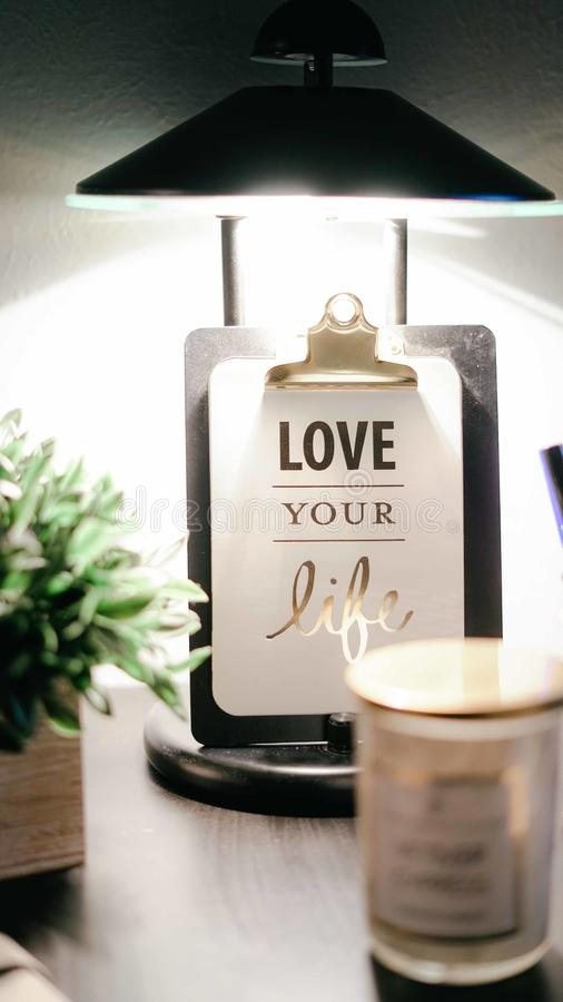 Love Your Life Clipboard Decor royalty free stock images