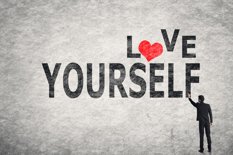 Love Yourself stock photography