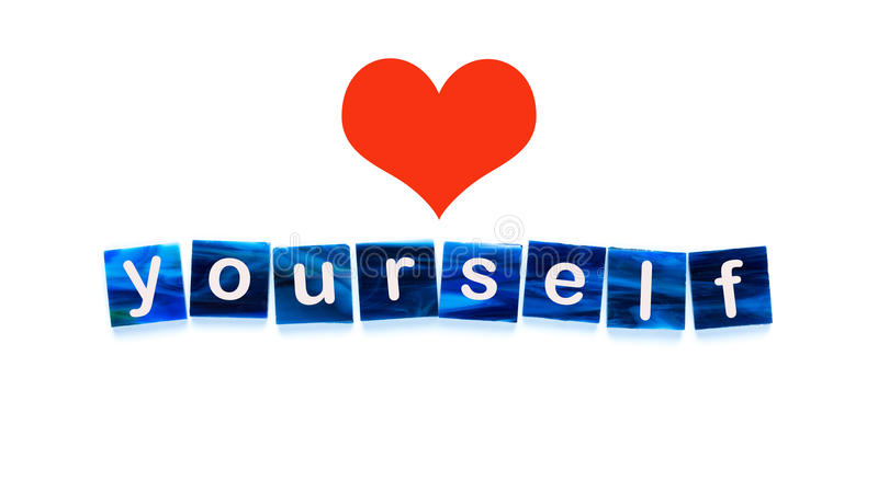 Love yourself stock image
