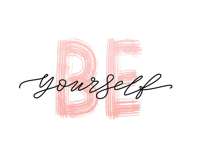 Love yourself quote. Single word. Modern calligraphy text. royalty free illustration