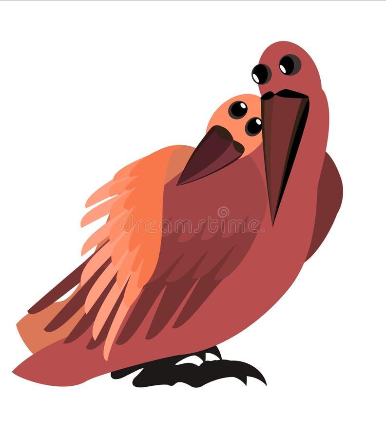 Lovebirds ilustração do vetor