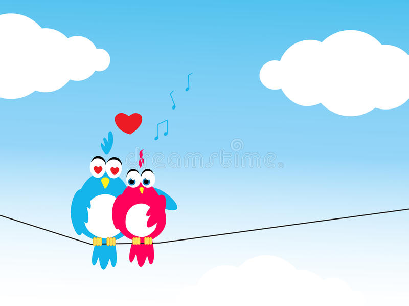 Lovebirds illustration libre de droits