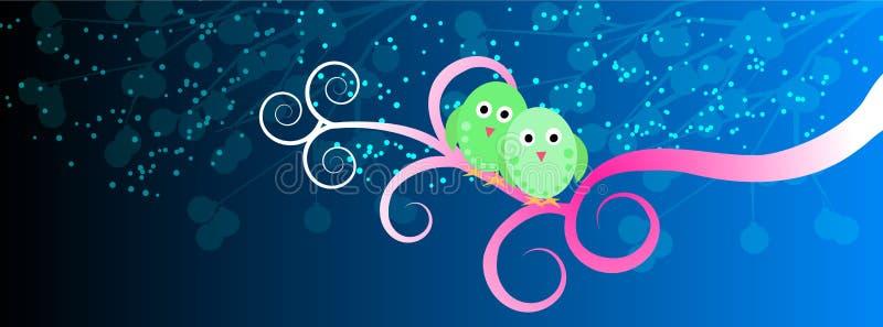 Lovebirds ilustracja wektor