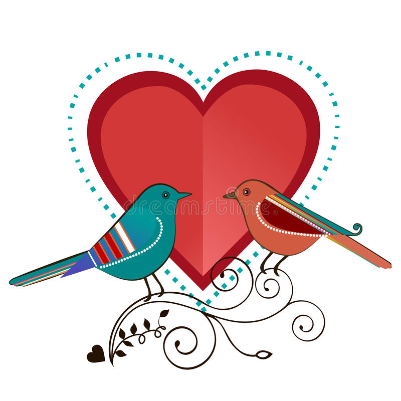 Lovebirds ilustracji