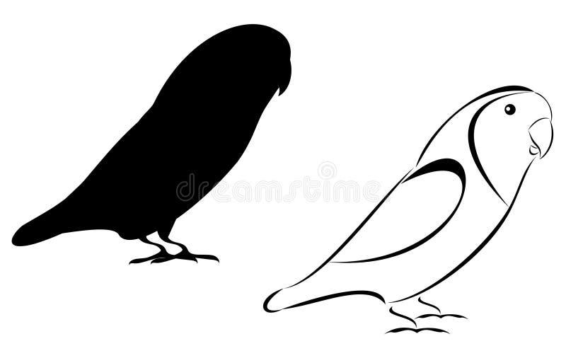 lovebirds иллюстрация вектора