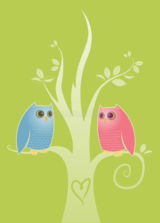 Lovebirds illustration stock