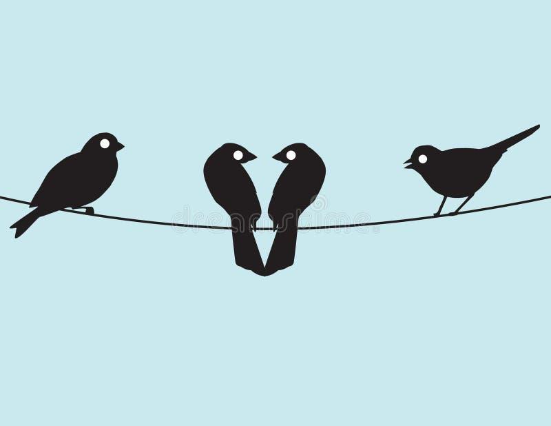 Lovebirds und Freunde lizenzfreie abbildung