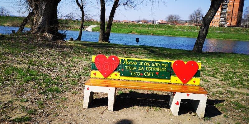Lovechair en Serbie près de rivière photo libre de droits