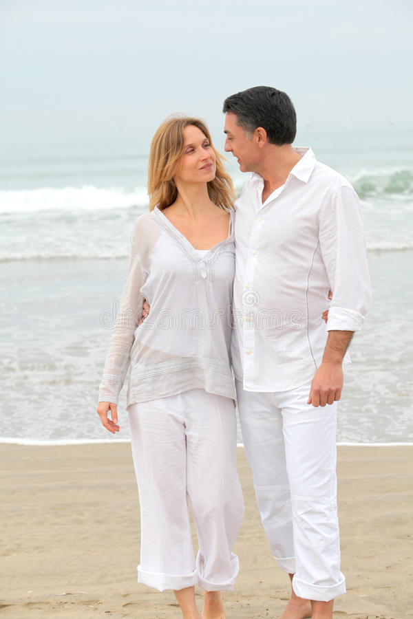 In loved couple on vacation royalty free stock photography