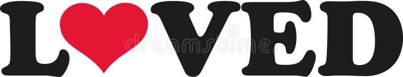 Loved with heart. Slogan vector vector illustration