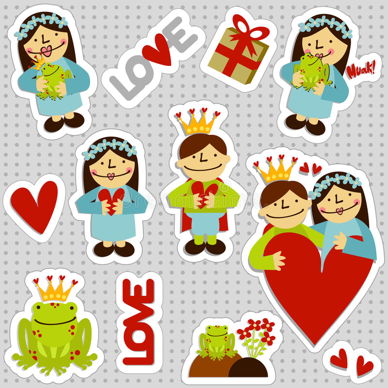 Free LOVEFrogStickers Royalty Free Stock Photos - 8065258