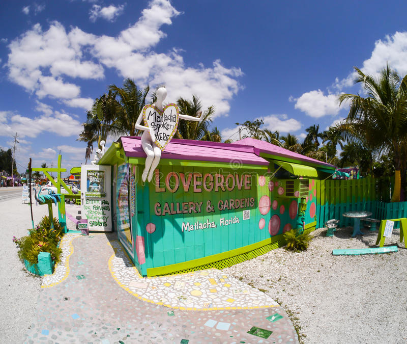 Lovegrove Gallery Matlacha, FL stock photo