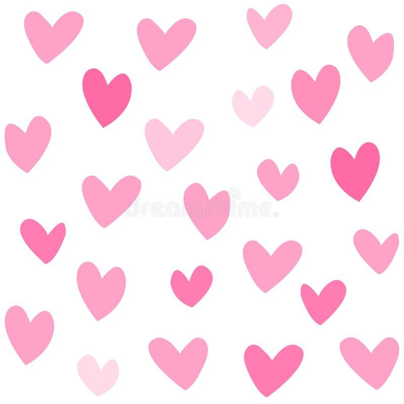 lovehearts różowy patte bezszwowe ilustracji