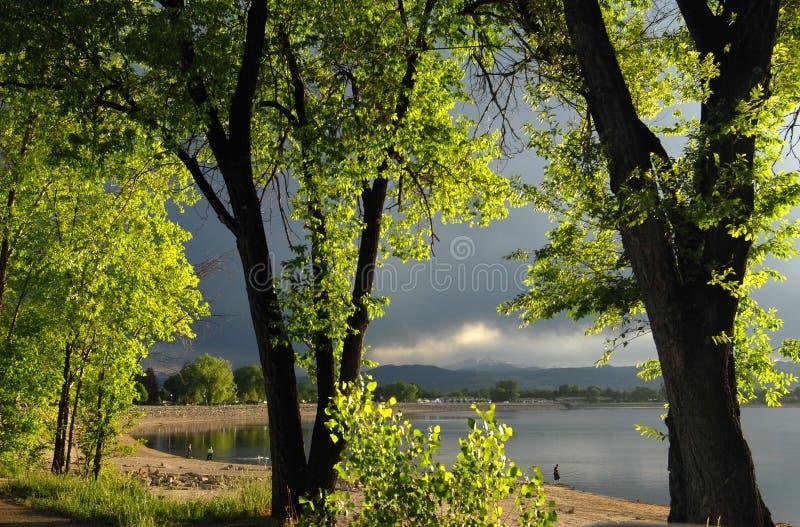 loveland озера стоковые фотографии rf