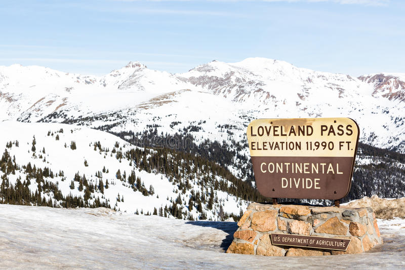 Loveland przepustka zdjęcia royalty free