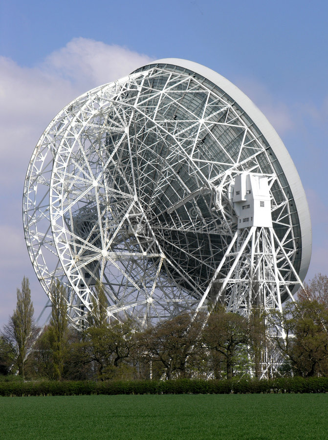 lovell ραδιο τηλεσκόπιο στοκ εικόνα