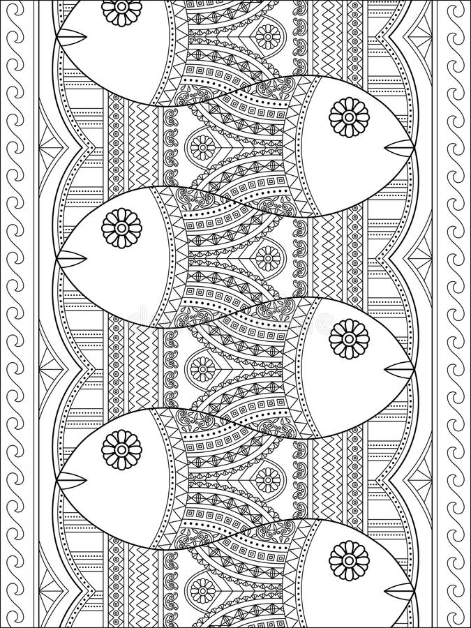 Lovely adult coloring page royalty free illustration
