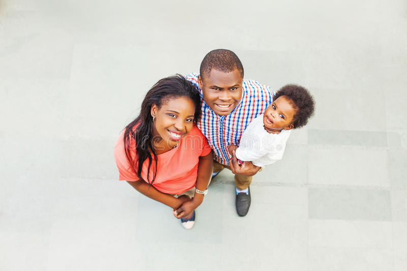 Lovely african family. Top view royalty free stock image