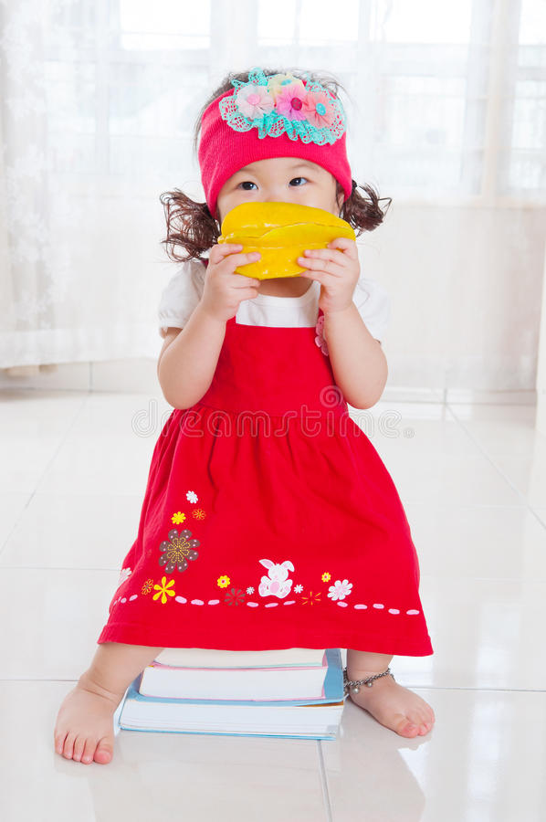 Lovely asian baby stock photos