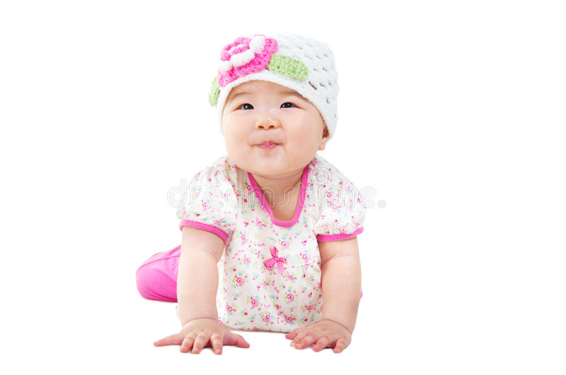 Lovely asian baby royalty free stock image