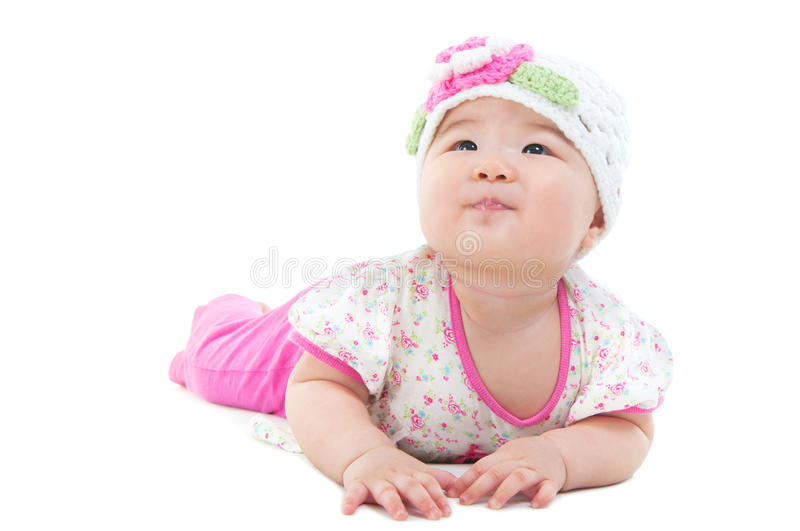 Lovely asian baby royalty free stock photo