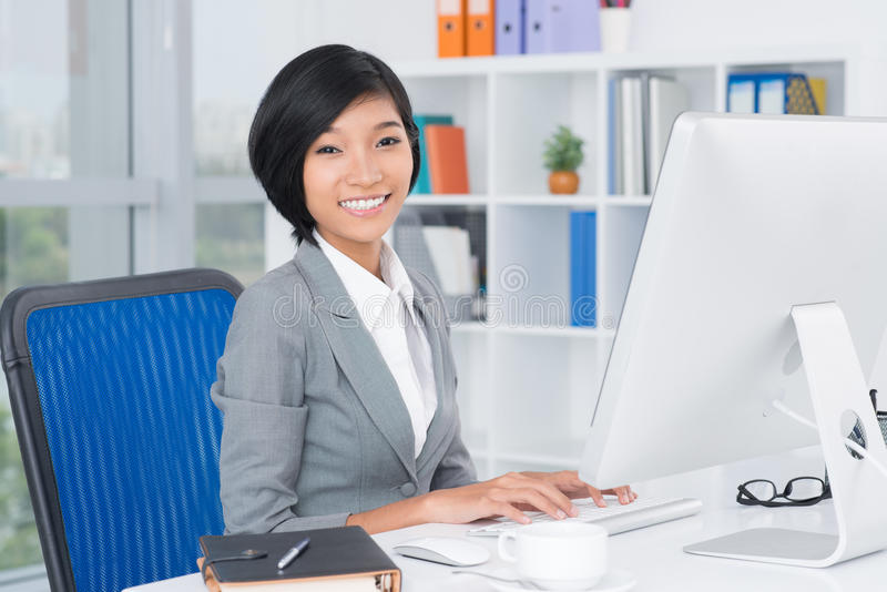 Lovely assistant stock photos
