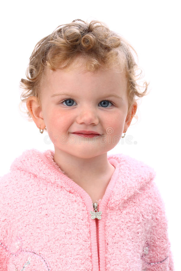 Download Lovely Baby In Pink Poncho Smiling Isolated Stock Image - Image: 16363281