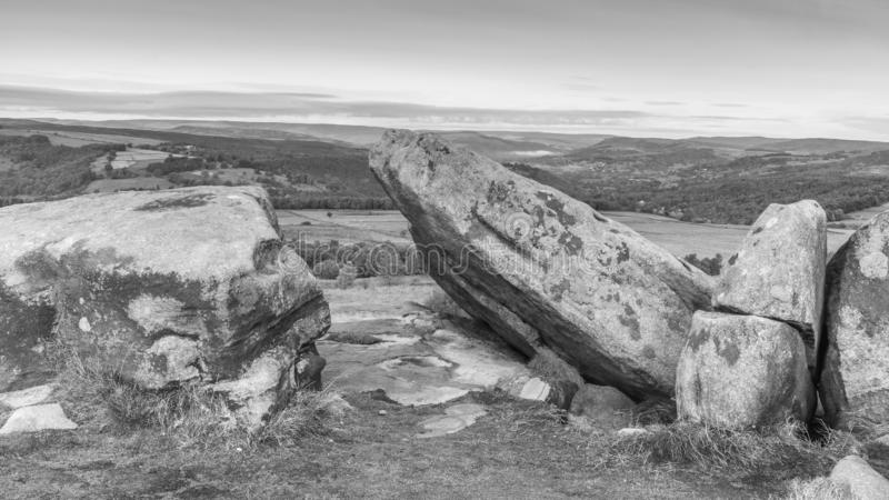 View from white edge, derbyshire stock photography