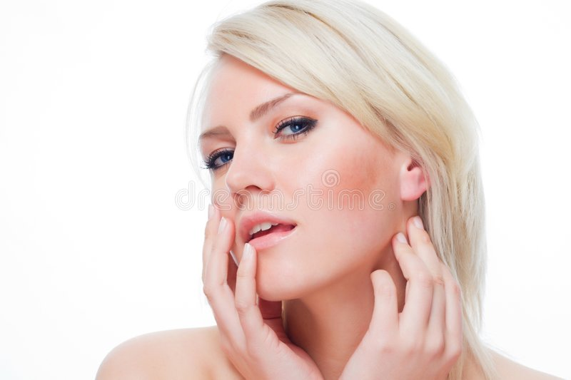 Lovely blond royalty free stock photos
